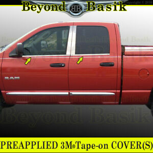 For 2002 2003 Dodge Ram 1500 4dr Quad Cab Stainless Steel Window Sill Covers