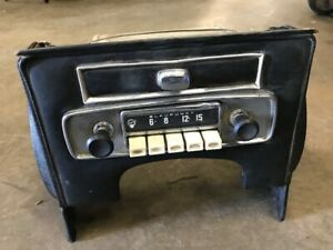 Jaguar Xke Series Radio Console With Blaupunkt Original Ash Tray Vintage E Type