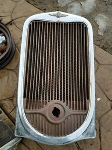 1932 Dodge Grill Shield Radiator Chrome Surround Rat Hot Rod 32 Coupe Sedan Oem