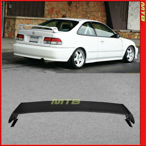 For 96 00 Honda Civic Mug Style Rear Wing Trunk Spoiler Abs Plastic 2dr Coupe 2d