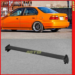 Rear Trunk Wing Spoiler Lip 96 00 For Honda Civic 4d 4d Mug Style Abs Plastic