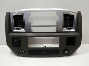 2006 2007 2008 2009 Dodge Ram 1500 2500 3500 Center Dash Bezel Silver