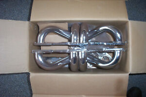 Sbc Exhaust Headers Huggers Chrome With Flanges Gaskets New In Box Good To Go