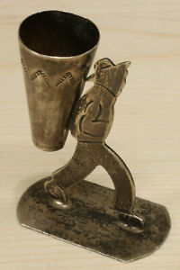 Vintage Mexico Sterling Silver Mini Standing Shot Glass 314d 15