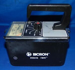 Bicron Micro Rem Gamma Scintillation Radiation Geiger Calibration Ended February