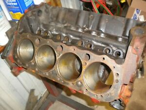 1966 Chevy 327 Bare Block Standard Bore 3958174 Cast I25 With Sleeve