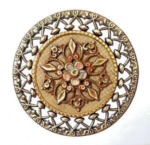 Antique Button Extra Pretty Large Victorian Celluloid Make A Gorgeous Tray