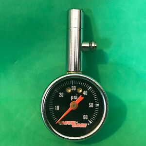 Vintage Red Line Accu Gage 60 Psi Tire Pressure Gauge