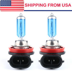 2 X H11 100w Halogen Light Bright White Car Headlight Bulbs Bulb Lamp 12v 6000k