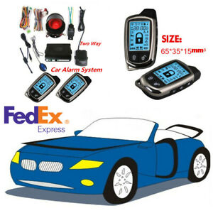 2way Pager Car Security Alarm System Keyless Entry Lcd Display Remote Anti Theft