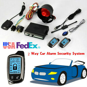Universal 2 Way Car Alarm Security System With Long Distance Remote Controllers