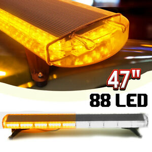 54led Emergency Traffic Advisor Double Side Warning Strobe Light Bar Amber Lamp