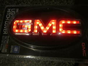 Gmc Trailer Lighted Hitch Cover Reese 86061 New