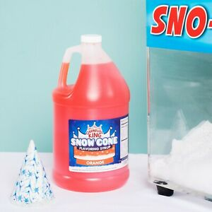 4 1 Gallons Premium Carnival King State Fair Orange Snow Cone Syrup