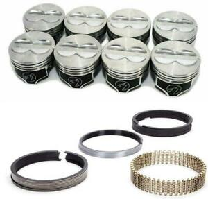 Speed Pro Chevy 400 Hyper Coated Flat Top 4vr Pistons Moly Rings Set 030