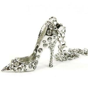 Silver Bling High Heel Shoe Mirror Car Charm Hanger Ornament Clear Rhinestone