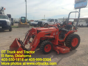 Kubota B7500 Tractor Loader Remotes Front Back Belly Mower Used