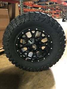 18x9 Mayhem Warrior 35 Atturo Mt Wheel Tire Package 5x5 Jeep Wrangler Jk Jl