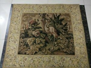Antique19c Aubusson Style French Tapestry Size43 X38 Cm110x97 Beautiful Wevon
