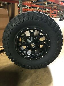 18x9 Mayhem Warrior 35 Atturo Mt Wheel Tire Package 8x170 Ford F250 F350 Super