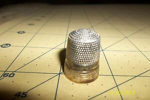 Antique Sterling Silver Simons Bros Co Thimble Shield 11