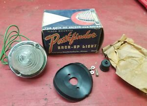 Nos Back up Light Pathfinder 491 Flush Mount Safety Auto Lamp Vintage Truck