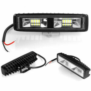 2x Fog Light 18w 12v 16 Led Car Work Bar Beam Lamp For Suv Off Road Universal