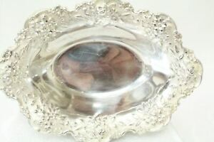 S Kirk Son Sterling 142 Nut Candy Dish In Repousse Pattern