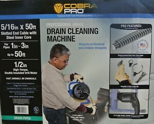 Cobra Pro Cp2040 Drain Cleaning Machine 1 To 3 Pipes 50 Feet Plumbing