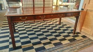 Councill Craftsman Executive Desk Or Library Table 6 X 3 With Custom Glass