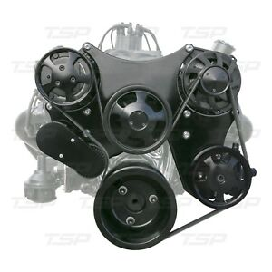Small Block Chevy Serpentine Drive Kit Black Or Polish