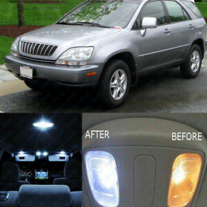 10 Pc Pure White Car Interior Led Lights Package Kit For 1999 2003 Lexus Rx300