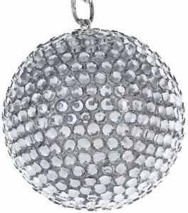Disco Ball Rear View Mirror Pendant Crystal Charm Ornament Car Accessories