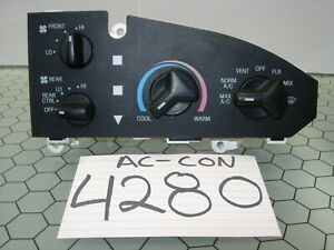 98 99 00 01 02 03 Ford E 350 Ac And Heater Control Used Stock 4280 ac