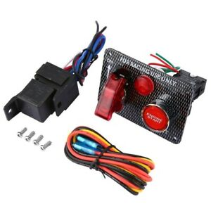 Fxc Racing Car Ignition Switch Panel Led Toggle Engine Start Push Button Starter