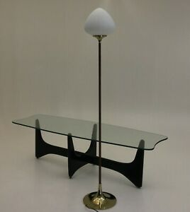 Brass Wood Tear Drop Floor Lamp By Laurel Vintage Mid Century Modern Vintage
