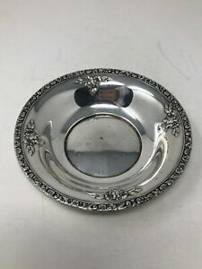 Watson Meadow Rose Sterling Silver Small Bowl 6 No Mono
