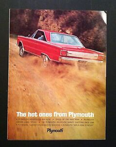 1966 Plymouth Belvedere Hemi Stats Indy Nhra Petty Cuda Mopar 8 Page Car Ad 1967