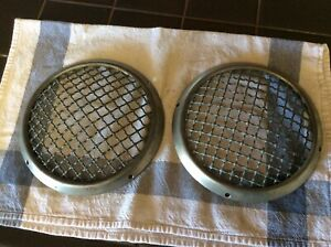 Nos Stone Guard Headlight Gutter Mesh Grill Rally Vintage Cover For Porsche Vw