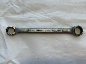 Vintage Craftsman V Series Stubby Double Box End Wrench 3 8 7 16 12 Point