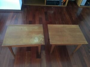 Vintage Danish Mid Century Modern Pair End Tables Finn Juhl