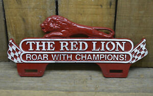 Gilmore Red Lion License Plate Topper Hot Rod Rat Custom Vtg Style Gas Oil Truck