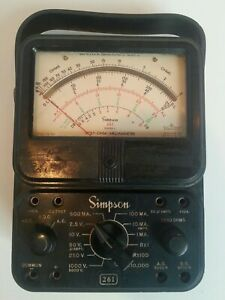 Vintage Simpson 260 Series rare 261 Model Analog Volt ohm multi meter Works