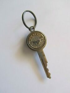 Vintage Ford Mustang Auto Logo Ignition Crest Key Brass