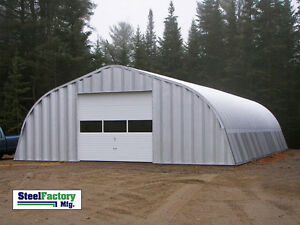 Steel Factory Mfg A25x40x14 Factory Direct Gambrel Metal Arch Garage Building
