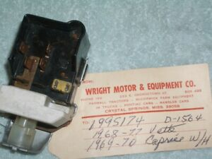 1968 1977 Corvette Chevy Caprice Headlight Switch 1995174