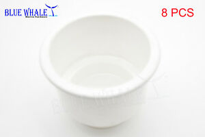 8pcs White Plastic Cup Drink Holder Without Drain Hole Usa Bl31616073