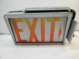 Vintage Heavy Duty Electric Top Mount Day Brite Exit Light Sign