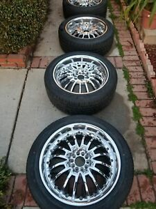 20 Inch Chrome Rims Used W New Tires