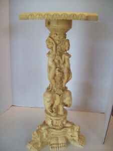 Rare Hand Carved Smalltable Sculpture Buddhist Soap Stone Ancient
